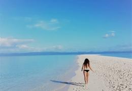 Lengua de arena en Kalanggaman (Filipinas)