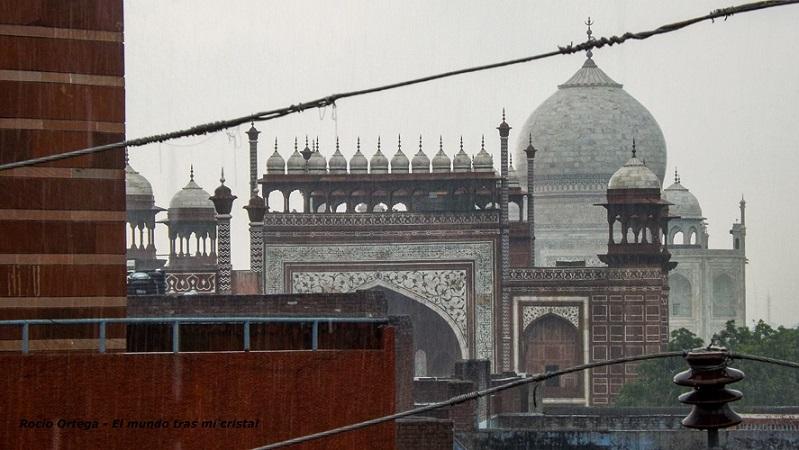 Vista del Taj Mahal desde azotea