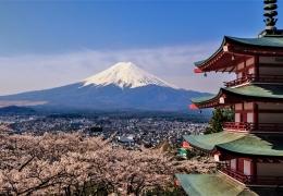Monte Fuji desde la pagoda Chureito