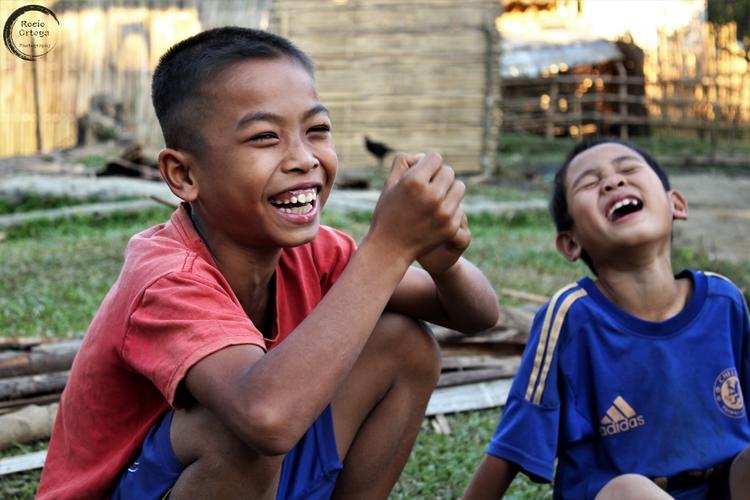 Aldea en Laos