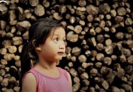 Tribu en la aldea Ban Na en Laos