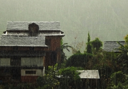 Bharatpur. monzon en nepal