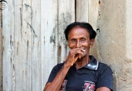 Hombre en Negombo, Sri Lanka
