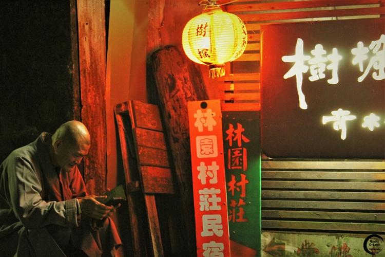 Viendo vídeos en Juifen (Taiwán)
