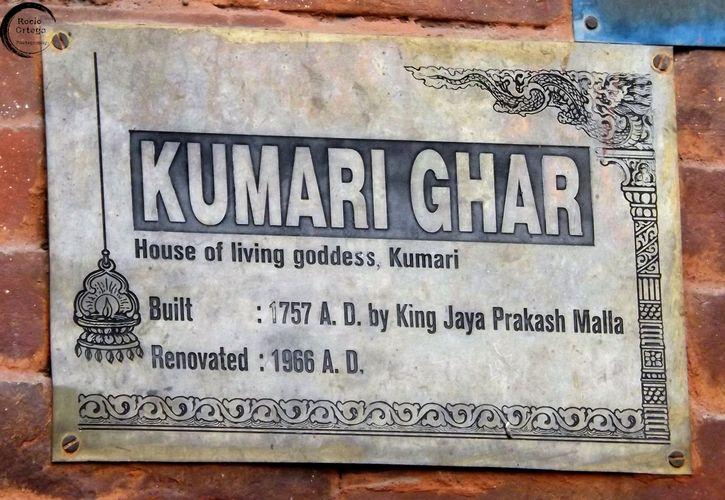 Kumari Ghar (la casa de la diosa viviente)