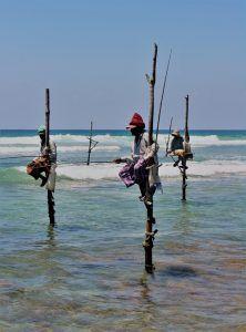 Pescadores posando